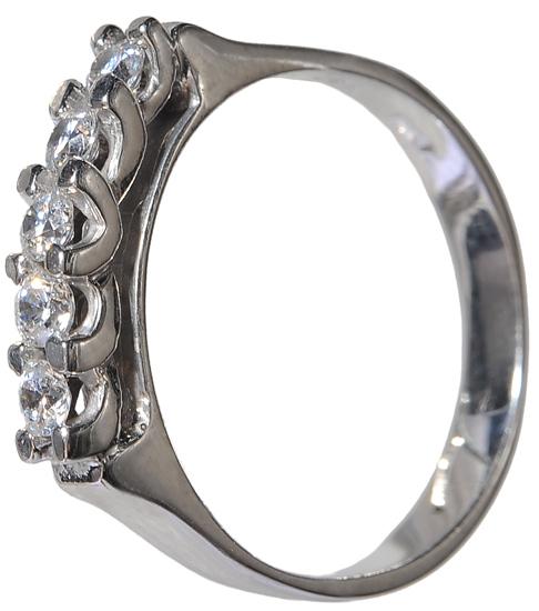 Σειρέ δαχτυλίδι λευκόχρυσο Κ14 002137 Χρυσός 14 Καράτια