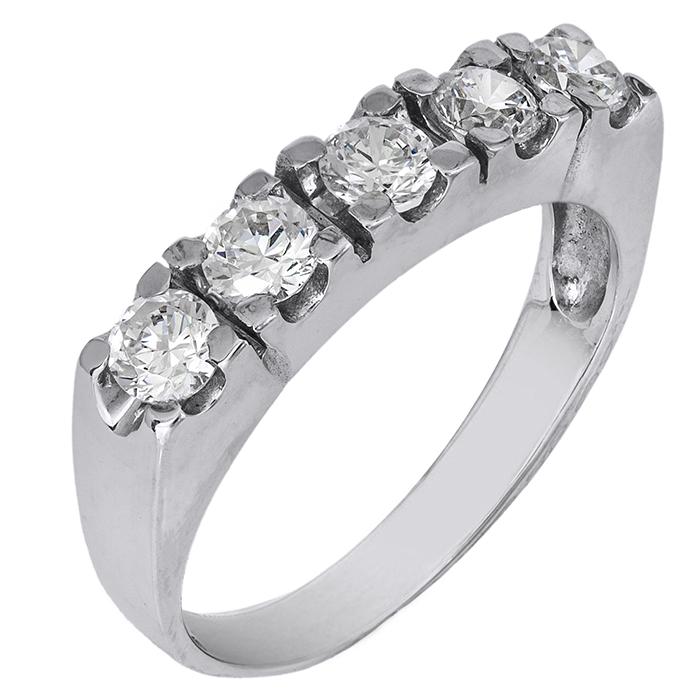Λευκόχρυσο δαχτυλίδι σειρέ 14Κ 002144 002144 Χρυσός 14 Καράτια
