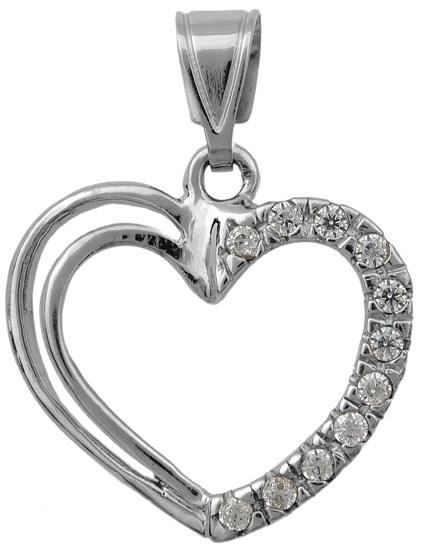 Λευκόχρυση Καρδιά 14 καράτια 002146 002146 Χρυσός 14 Καράτια