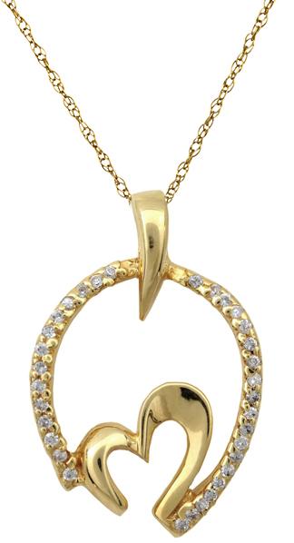 Χρυσή καρδιά 14 Κ 002147 002147 Χρυσός 14 Καράτια χρυσά κοσμήματα καρδιές