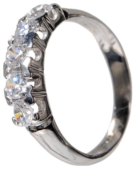 Σειρέ δαχτυλίδι λευκόχρυσο 14Κ 002156 Χρυσός 14 Καράτια