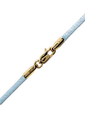 Γαλάζιο κορδόνι με χρυσό κούμπωμα 14 Κ 002168 002168 Χρυσός 14 Καράτια