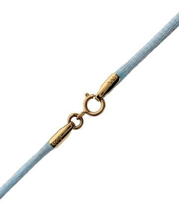 Γαλάζιο κορδόνι με χρυσό κούμπωμα 14Κ 002176 002176 Χρυσός 14 Καράτια