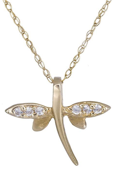 Κολιέ χρυσό λιβελούλα 14Κ 002184 002184 Χρυσός 14 Καράτια
