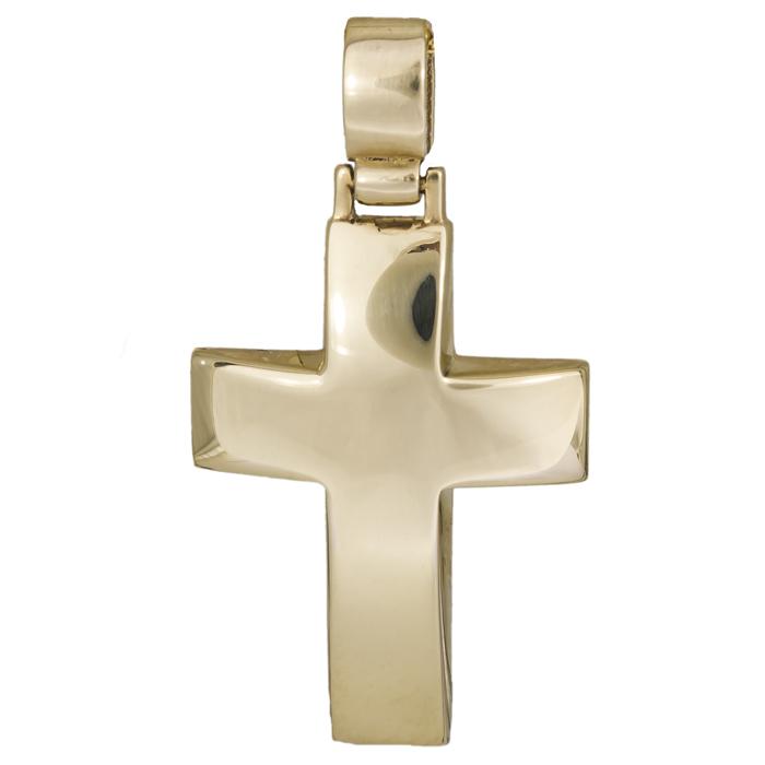 Σταυροί Βάπτισης - Αρραβώνα Χρυσός κλασικός σταυρός 14Κ 002196 002196 Ανδρικό Χρυσός 14 Καράτια