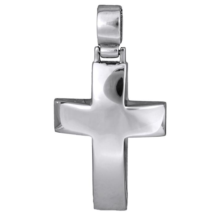 Σταυροί Βάπτισης - Αρραβώνα Λευκόχρυσος σταυρός 14 καράτια 002197 002197 Ανδρικό Χρυσός 14 Καράτια