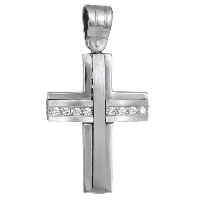 Σταυροί Βάπτισης - Αρραβώνα Σταυρός διπλής όψης Κ 14 002232 002232 Γυναικείο Χρυσός 14 Καράτια