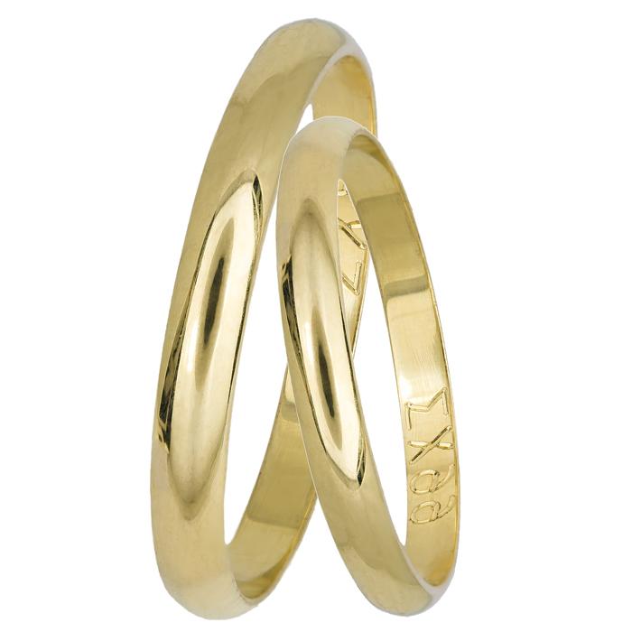Κλασικές βέρες γάμου Κ14 022334 022334 Χρυσός 14 Καράτια