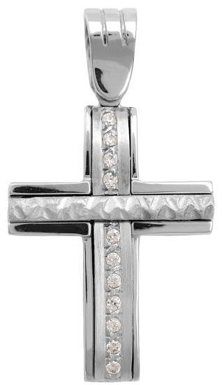 Σταυροί Βάπτισης - Αρραβώνα Διπλής όψης σταυρός 14 K 002234 002234 Γυναικείο Χρυσός 14 Καράτια