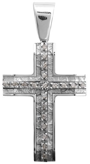 Σταυροί Βάπτισης - Αρραβώνα Λευκόχρυσος σταυρός 14 καράτια 002248 002248 Γυναικείο Χρυσός 14 Καράτια