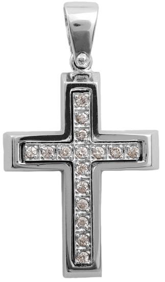 Σταυροί Βάπτισης - Αρραβώνα Σταυρός λευκόχρυσος 14 Κ 002250 002250 Γυναικείο Χρυσός 14 Καράτια