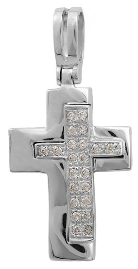 Σταυροί Βάπτισης - Αρραβώνα Σταυρός λευκόχρυσος 14Κ 002264 002264 Γυναικείο Χρυσός 14 Καράτια