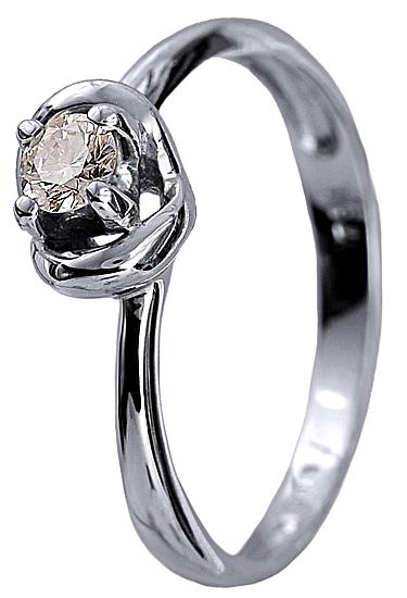 Μονόπετρο δαχτυλίδι με μπριγιάν 18Κ 002278 Χρυσός 18 Καράτια