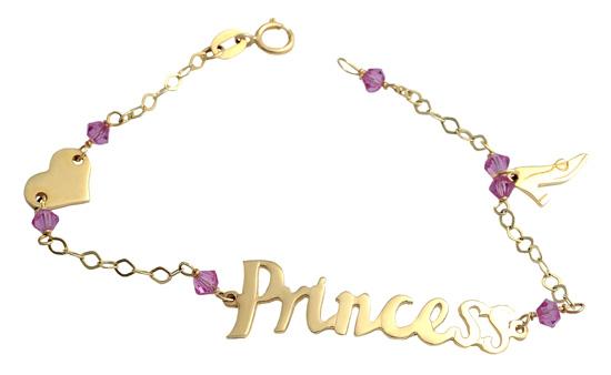 Χρυσό βραχιόλι 14 καράτια 002300 Χρυσός 14 Καράτια παιδικά κοσμήματα βραχιόλια