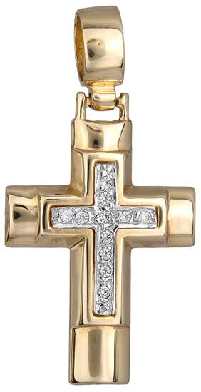 Σταυροί Βάπτισης - Αρραβώνα Χρυσός σταυρός 9Κ 012500 012500 Γυναικείο Χρυσός 9 Καράτια