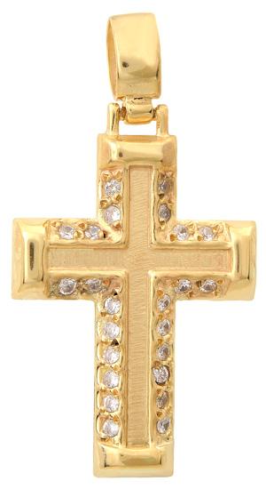 Σταυροί Βάπτισης - Αρραβώνα Χρυσός σταυρός 14Κ 002395 002395 Γυναικείο Χρυσός 14 Καράτια