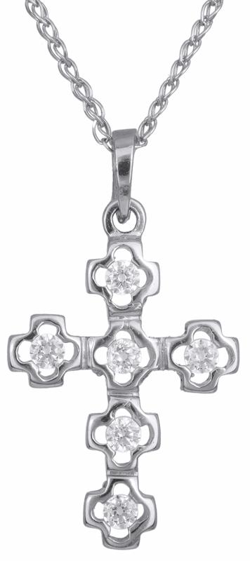 Βαπτιστικοί Σταυροί με Αλυσίδα Γυναικείος σταυρός με πέτρες 14Κ C002437 002437C Γυναικείο Χρυσός 14 Καράτια