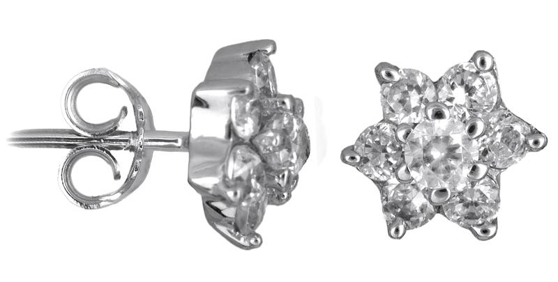 Λευκόχρυσα σκουλαρίκια 14Κ 002543 002543 Χρυσός 14 Καράτια