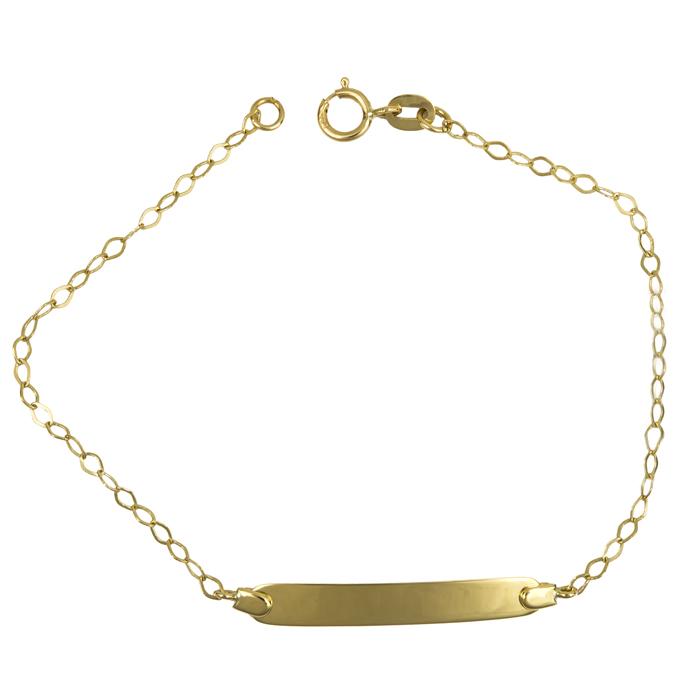Ταυτότητα χρυσή Κ14 002546 Χρυσός 14 Καράτια