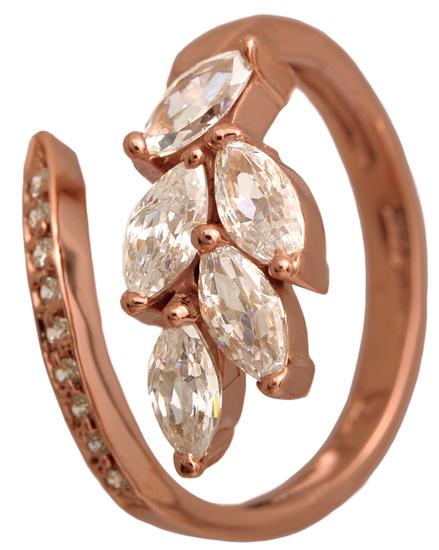 Ροζ-χρυσό δαχτυλίδι 14Κ 002578 Χρυσός 14 Καράτια
