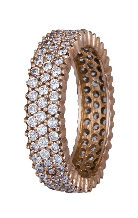 Τρίσειρο ροζ χρυσό δαχτυλίδι Κ14 002581 002581 Χρυσός 14 Καράτια