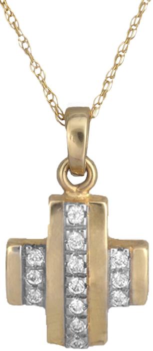 Δίχρωμος Σταυρός πετράτος Κ14 000260 000260 Χρυσός 14 Καράτια χρυσά κοσμήματα σταυροί