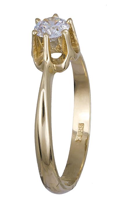 Χρυσό μονόπετρο 9Κ 012714 012714 Χρυσός 9 Καράτια