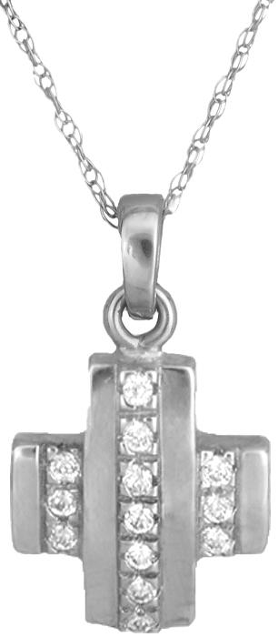 Λευκόχρυσος Σταυρός γυναικείος Κ14 000261 000261 Χρυσός 14 Καράτια χρυσά κοσμήματα σταυροί