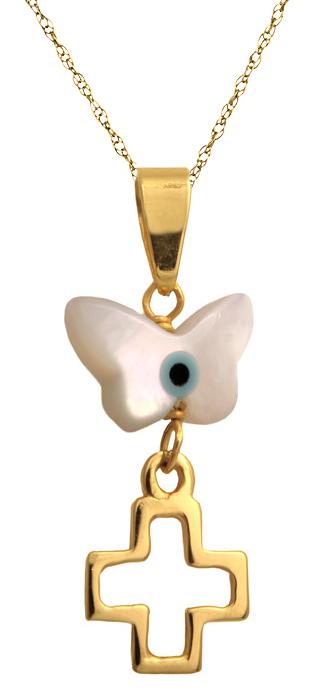 Χρυσό ματάκι πεταλούδα Κ14 002617 002617 Χρυσός 14 Καράτια