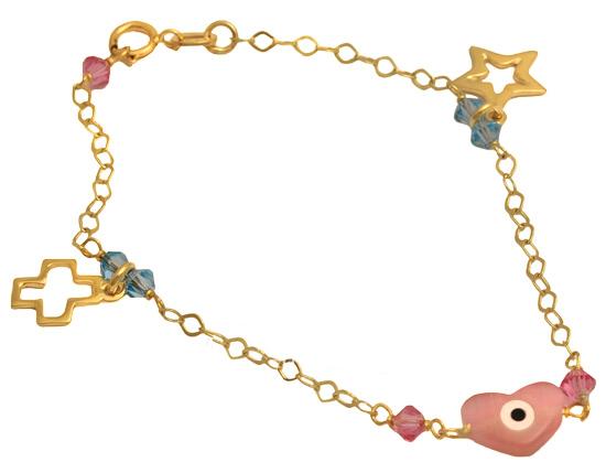 Βραχιόλι παιδικό 14Κ 002633 Χρυσός 14 Καράτια