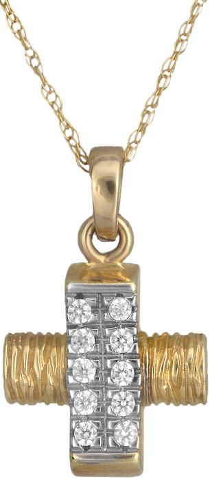 Δίχρωμος Σταυρός Κ14 000286 000286 Χρυσός 14 Καράτια