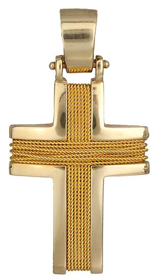 Σταυροί Βάπτισης - Αρραβώνα Χρυσός Σταυρός Κ14 000538 000538 Ανδρικό Χρυσός 14 Καράτια