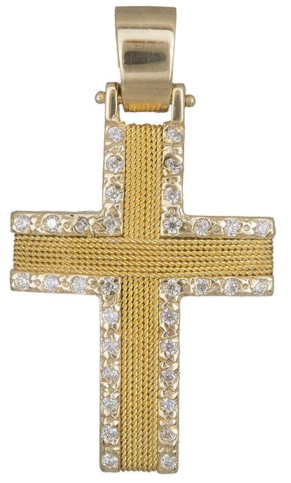 Σταυροί Βάπτισης - Αρραβώνα Χρυσός Σταυρός Κ14 000560 000560 Γυναικείο Χρυσός 14 Καράτια