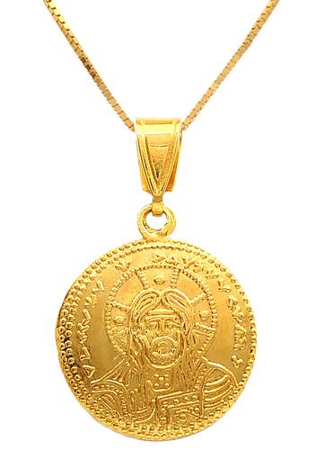 Χρυσό κωνσταντινάτο 14 καράτια με αλυσίδα 006119 006119 Χρυσός 14 Καράτια