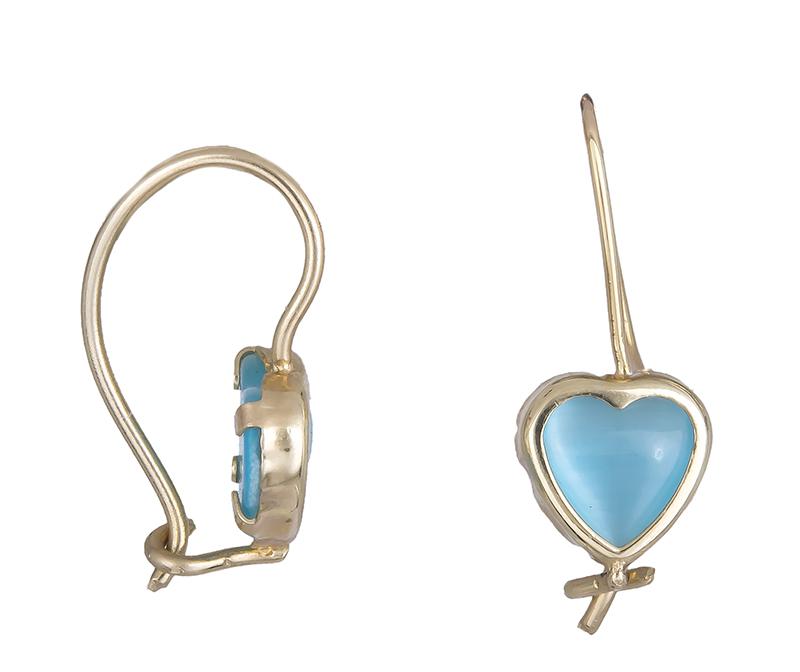 Παιδικά σκουλαρίκια με καρδιές Κ14 006169 006169 Χρυσός 14 Καράτια παιδικά κοσμήματα σκουλαρίκια