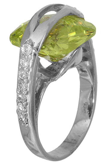 Δαχτυλίδι με πράσινη πέτρα 14K 006306 006306 Χρυσός 14 Καράτια