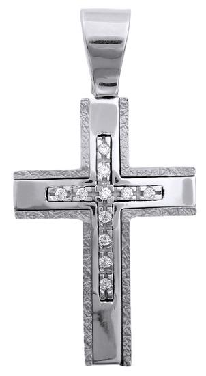 Σταυροί Βάπτισης - Αρραβώνα Λευκόχρυσος σταυρός 14Κ 006405 006405 Γυναικείο Χρυσός 14 Καράτια