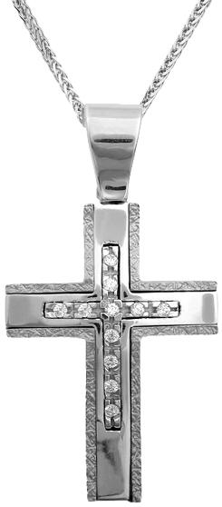Βαπτιστικοί Σταυροί με Αλυσίδα Σταυρός για κορίτσι Κ14 C006405 006405C Γυναικείο Χρυσός 14 Καράτια