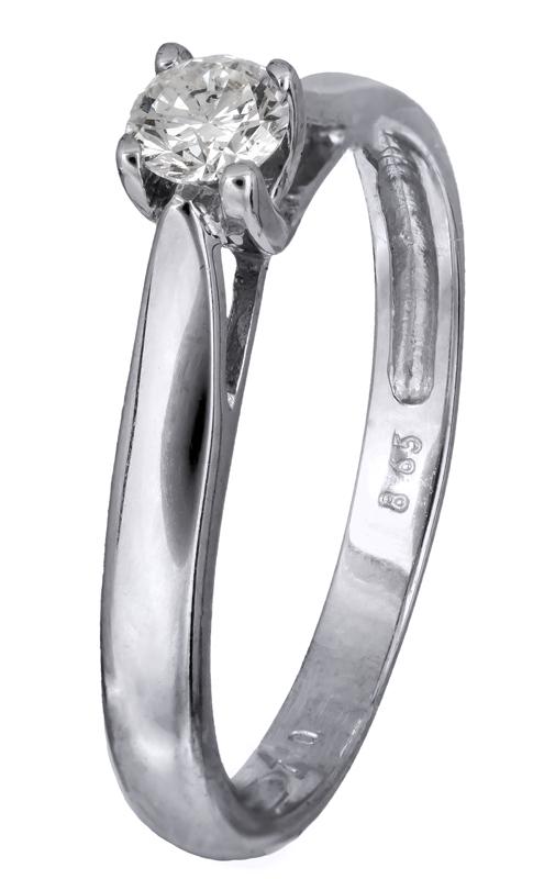 Μονόπετρο δαχτυλίδι αρραβώνων 018811 018811 Χρυσός 18 Καράτια