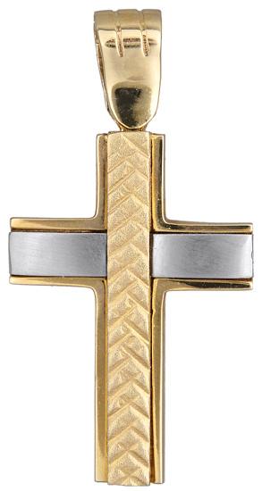 Σταυροί Βάπτισης - Αρραβώνα Ανδρικός σταυρός 006751 006751 Ανδρικό Χρυσός 14 Καράτια
