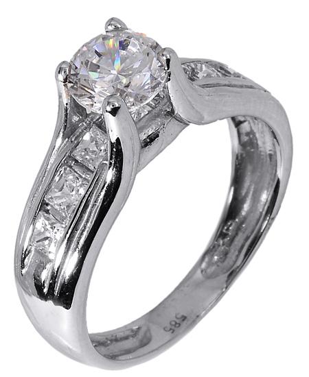 Μονόπετρο δαχτυλίδι 006855 006855 Χρυσός 14 Καράτια