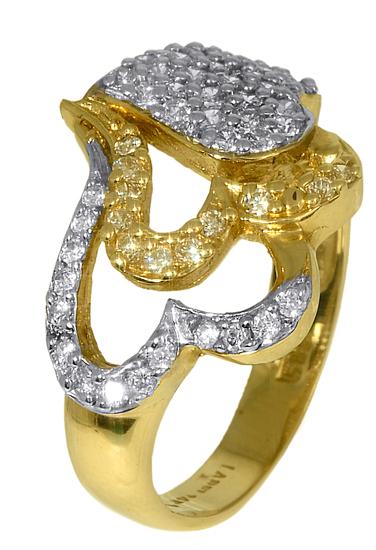 Δαχτυλίδι δίχρωμο 006991 Χρυσός 14 Καράτια