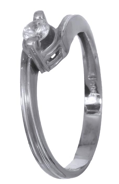 Δαχτυλίδι λευκόχρυσο με ζιργκόν Κ14 007023 007023 Χρυσός 14 Καράτια χρυσά κοσμήματα δαχτυλίδια μονόπετρα