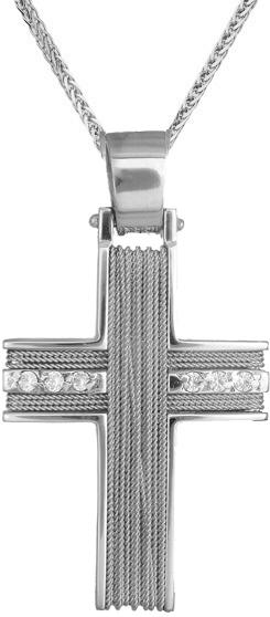 Βαπτιστικοί Σταυροί με Αλυσίδα Σταυρός για κορίτσι Κ14 C007244 007244C Γυναικείο Χρυσός 14 Καράτια