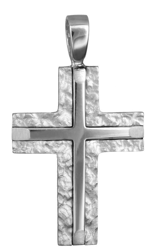 Σταυροί Βάπτισης - Αρραβώνα βαπτιστικός σταυρός για αγόρι Κ14 007296 007296 Ανδρικό Χρυσός 14 Καράτια