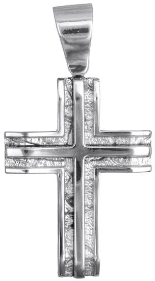 Σταυροί Βάπτισης - Αρραβώνα Λευκόχρυσος ανδρικός σταυρός 14Κ 007319 007319 Ανδρικό Χρυσός 14 Καράτια