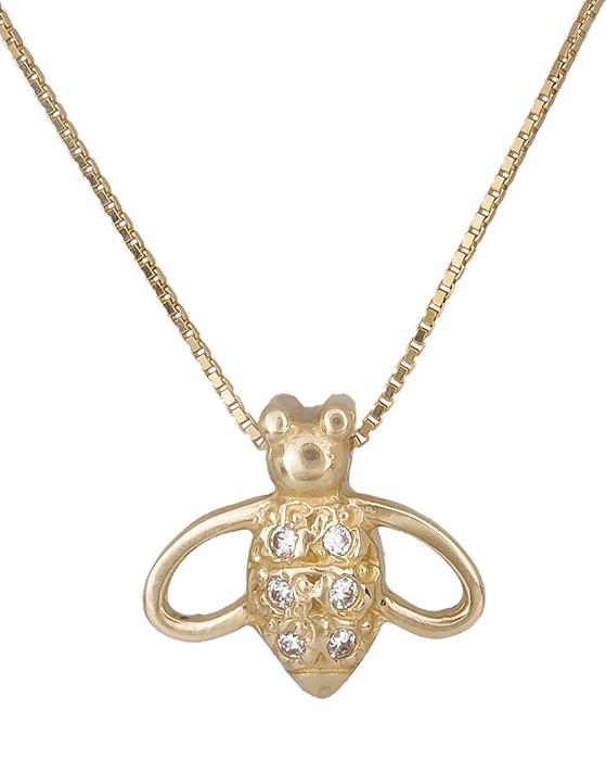 Χρυσό κολιέ μέλισσα 007331 007331 Χρυσός 14 Καράτια