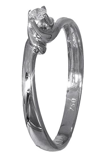 Μονόπετρο δαχτυλίδι Κ18 με διαμάντι 007355 007355 Χρυσός 18 Καράτια