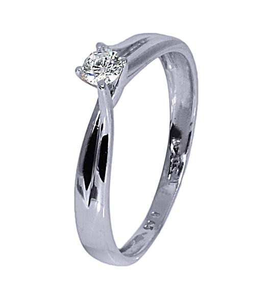 Λευκόχρυσο Μονόπετρο Δαχτυλίδι 18Κ με Διαμάντι 007358 007358 Χρυσός 18 Καράτια