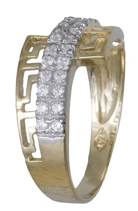 Δαχτυλίδι μαίανδρος με ζιργκόν 007373 007373 Χρυσός 14 Καράτια
